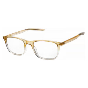 Nike 7129 Radiation Glasses 709 in Club Gold Fade Frame, Angled Side Left