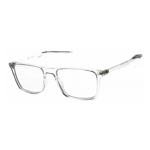 Nike 7130 Radiation Glasses 900 in Clear, Angled Side Left