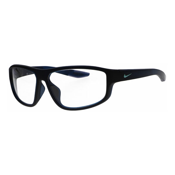 Nike Brazen Fuel-M Radiation Glasses 420 in Matte Space Blue, Angled to the Side Left