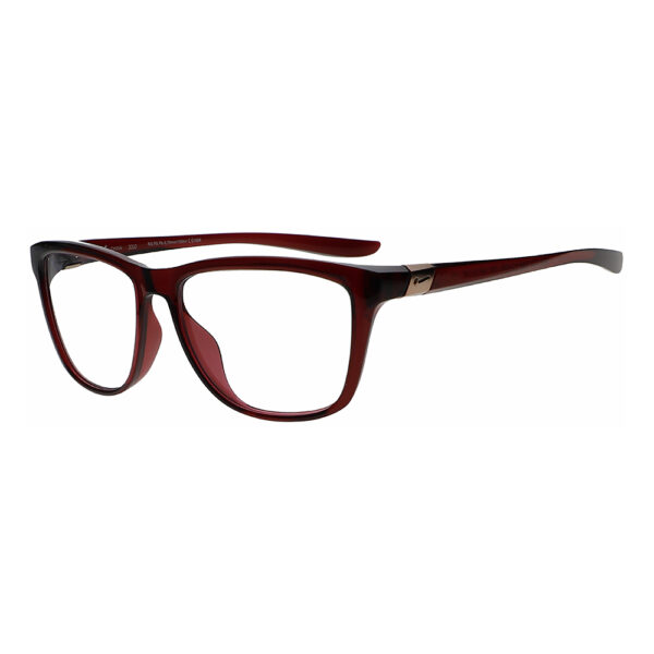 Nike City Icon M DJ0889 Radiation Glasses 638 in Dark Beetroot Frame, Angled to the Side Left