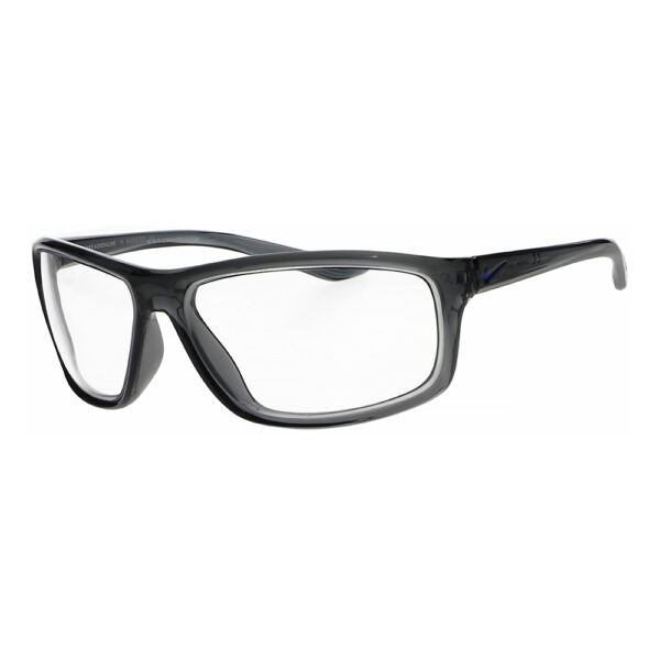 Nike Adrenaline Radiation Glasses in Dark Grey/Grey Frame, Angled to the Side Left