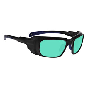 Model 16001 Ruby in Black and Blue Frame, Angled to the Side Right