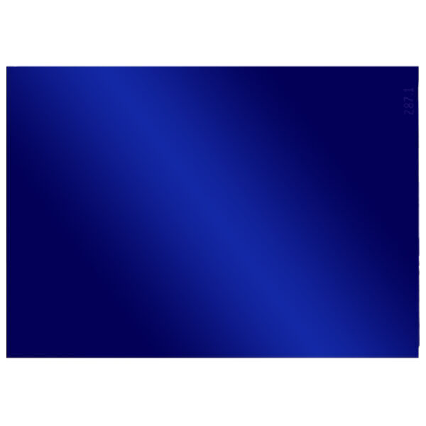 """Cobalt Lens Large, 4.5"""" x 5.25"""", Angled to the Front"""