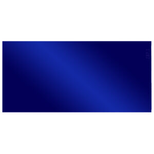 """Cobalt Lens Small, 2"""" x 4.25"""", Angled to the Front"""