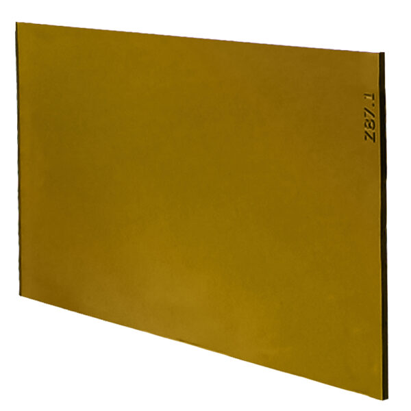 """Gold Welding Lens 4.5"""" x 5.25"""", Angled to the Side Left"""