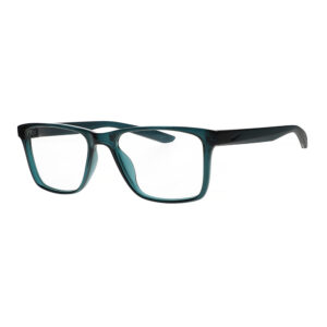 Nike Radiation Glasses 7300 in Dark Teal Green, Angled to the Side Left