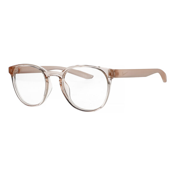 Nike Radiation Glasses 7301 in Washed Coral Frame, Angled to the Side Left