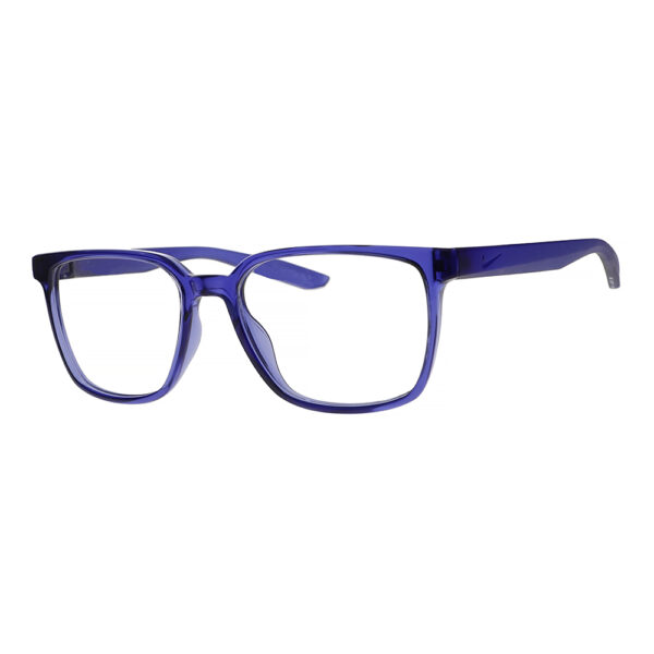 Nike Radiation Glasses 7302 in Lapis Frame, Angled to the Side Left