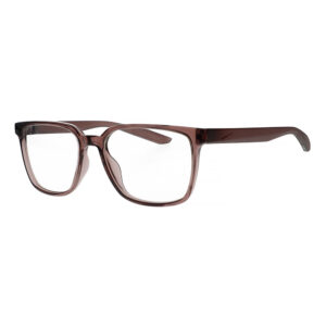 Nike Radiation Glasses 7302 in Smoke Mauve Frame, Angled to the Side Left