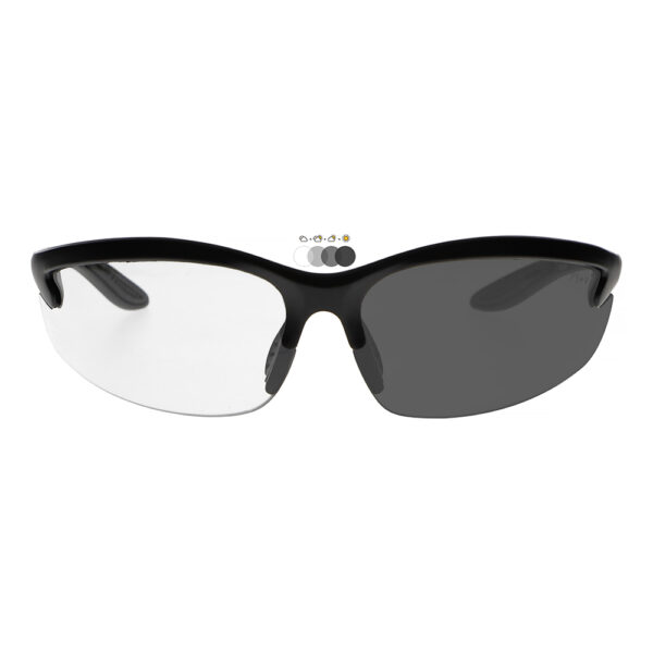 Photochromic Safety Glasses with Transition Lens, Angled to the Front