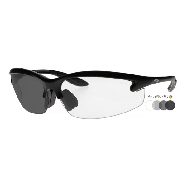 Photochromic Safety Glasses with Transition Lens, Angled to the Side Left