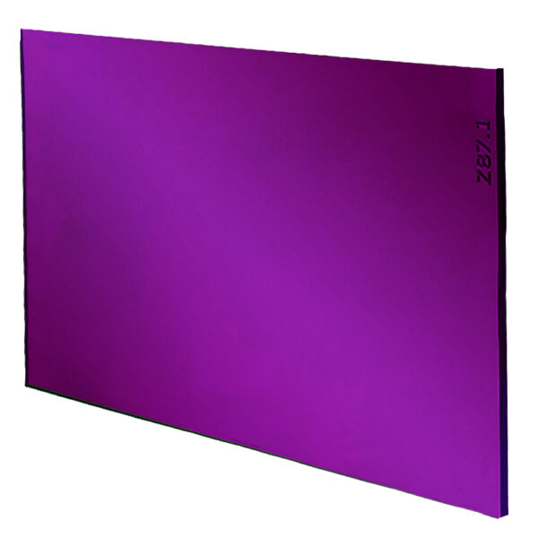 """Super Magenta Drop Welding Lens 4.5"""" x 5.25"""", Angled to the Side Left"""