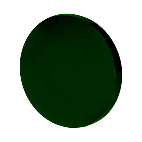 Welding Lens, Green Circular 50mm, Angled to the Side Left