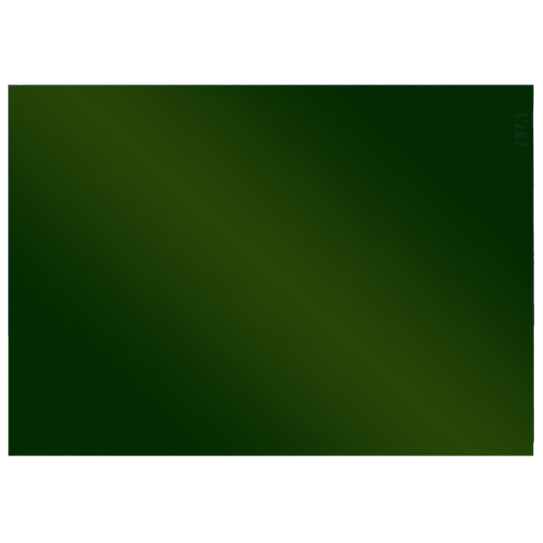 """Green Welding Lens 4.5"""" x 5.25"""", Angled to the Front"""