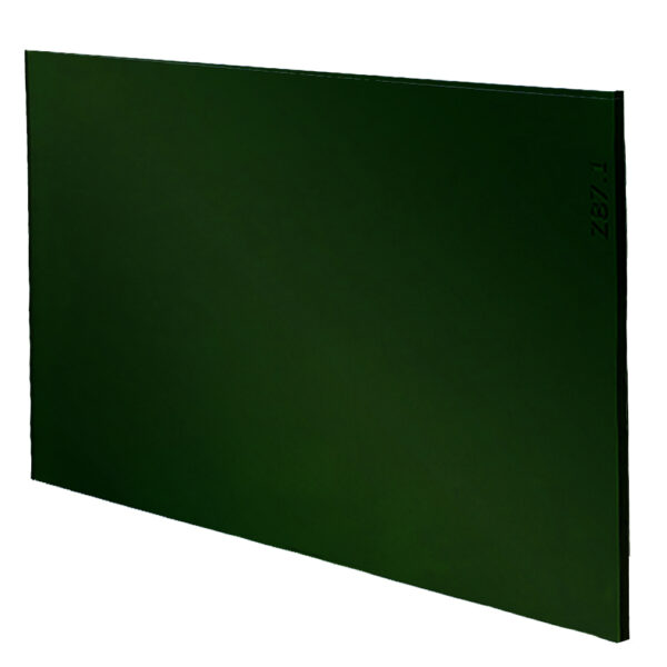 """Green Welding Lens 4.5"""" x 5.25"""", Angled to the Side Left"""