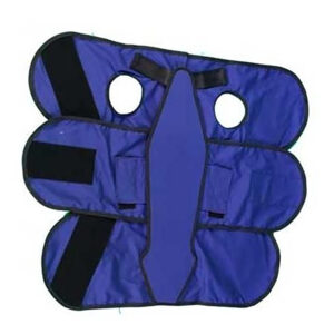3 Tier Small Flap Set in Blue, Angled to the Side Left