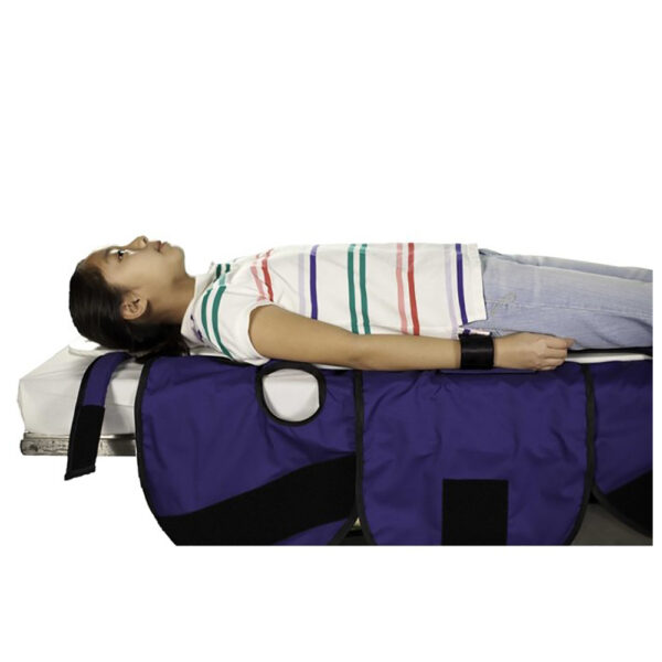 Large Radiolucent Papoose Board MRI Safe with the arm restraints in use