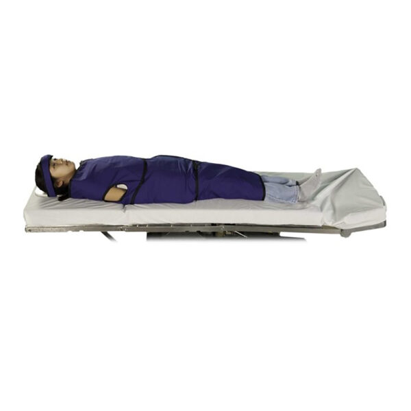 Large Radiolucent Papoose Board MRI Safe, Angled to the Left