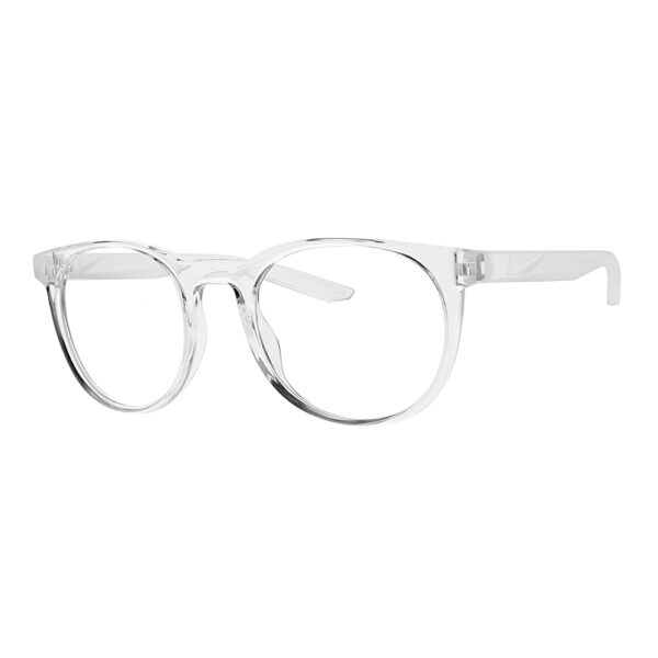 Nike Horizon Ascent Radiation Glasses in Clear Frame, Angled to the Side Left