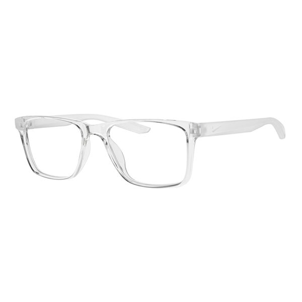 Nike Radiation Glasses 7300 in Clear Frame, Angled to the Side Left