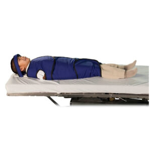 Regular Radiolucent Papoose Board that is MRI Safe, Angled to the Side Left