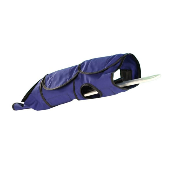 Small Radiolucent Papoose Board that is MRI Safe, Wrapped Up