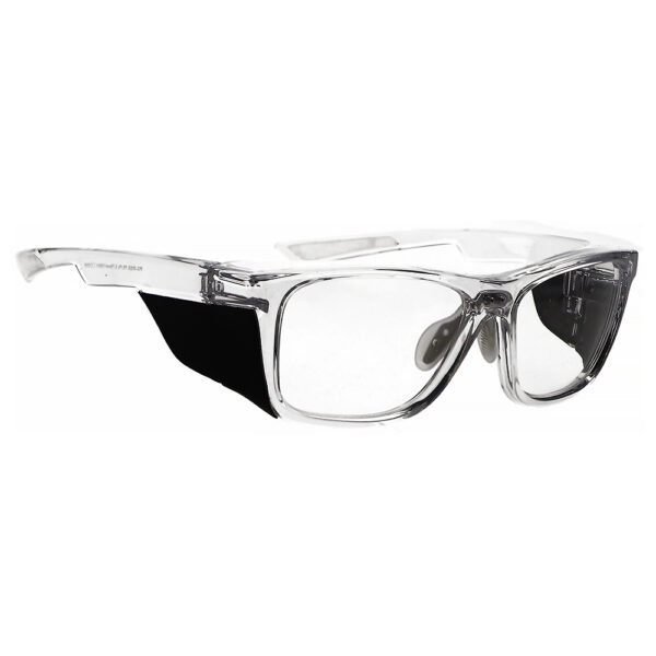 Radiation Glasses Model 15011 in Crystal Clear Frame, Angled to the Side Right