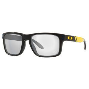 Radiation Glasses Oakley NFL Holbrook Los Angeles Rams in Matte Black Frame with Yellow Stripe