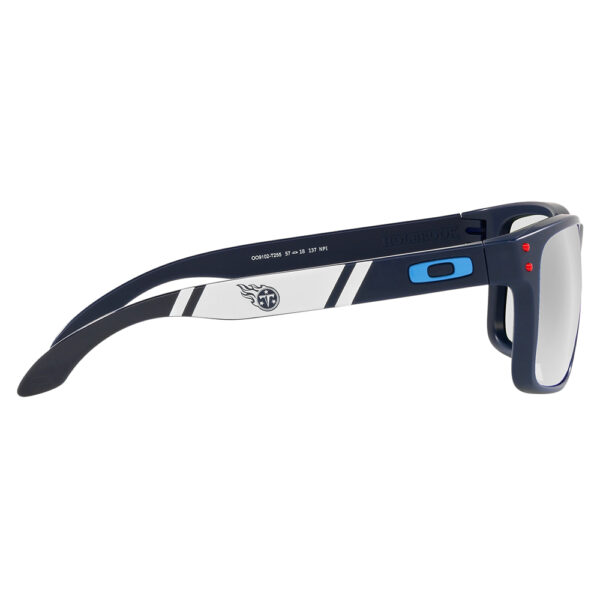 Radiation Glasses Oakley NFL Holbrook Tennessee Titans in Navy Frame with Stripe Side Angle