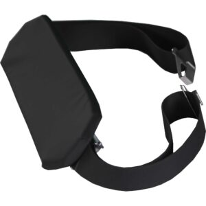 Airplane Safety Strap with Padded Mid Panel with Side Rail Clips
